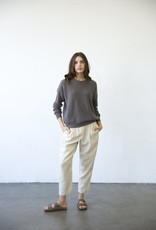 Cotton Pull-On Knit Sweater