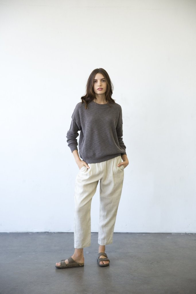 Cotton Pull-On Knit Sweater - Multiple Colors