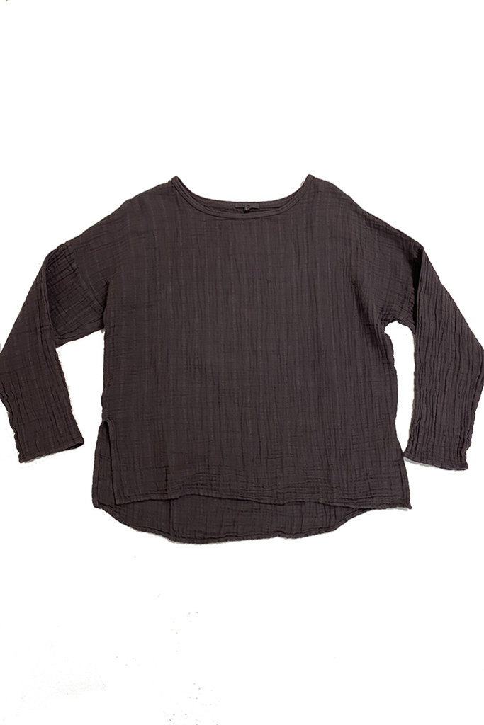 Long Sleeve Cotton Gauze Top