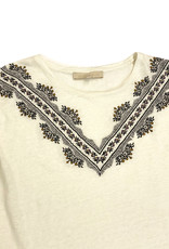 vanessa Bruno Ecru Tee with Embroidery