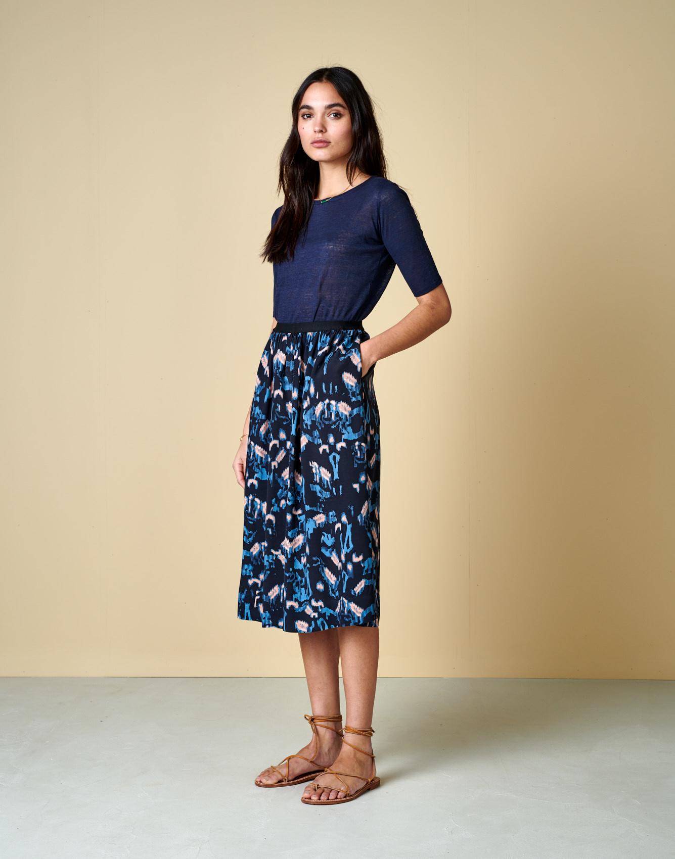 Bellerose High Waisted Midi Skirt