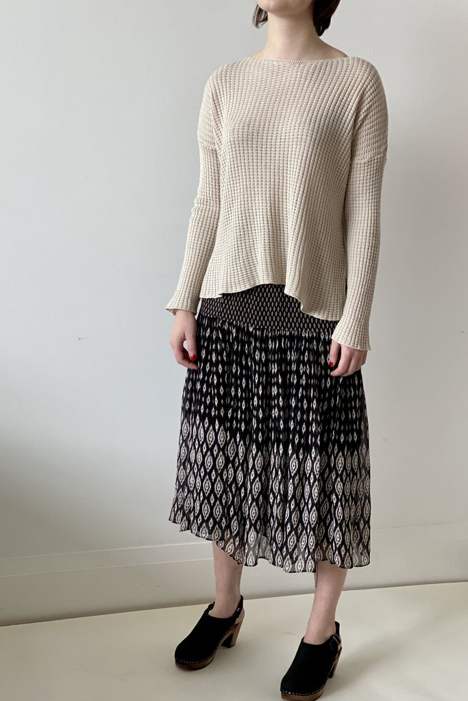 vanessa Bruno Tiered Maxi Patterned Skirt