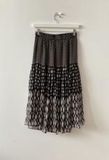 vanessa Bruno hernani Tiered  Patchwork Skirt