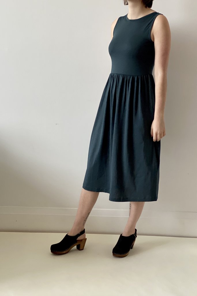Sessun Josepha Cotton Jersey Scoop Neck Dress in Teal