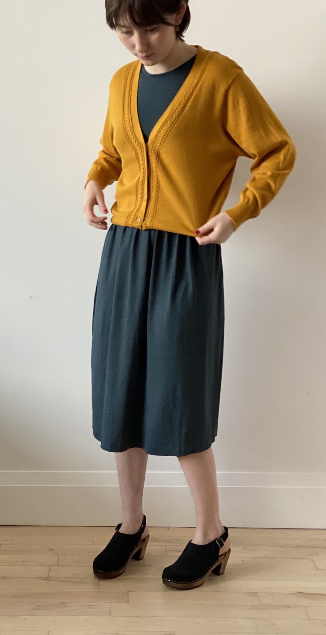 Saffron Cabled Cotton Cardigan