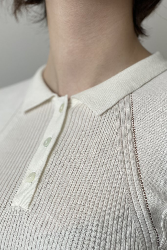 Sessun Ribbed Polo Top