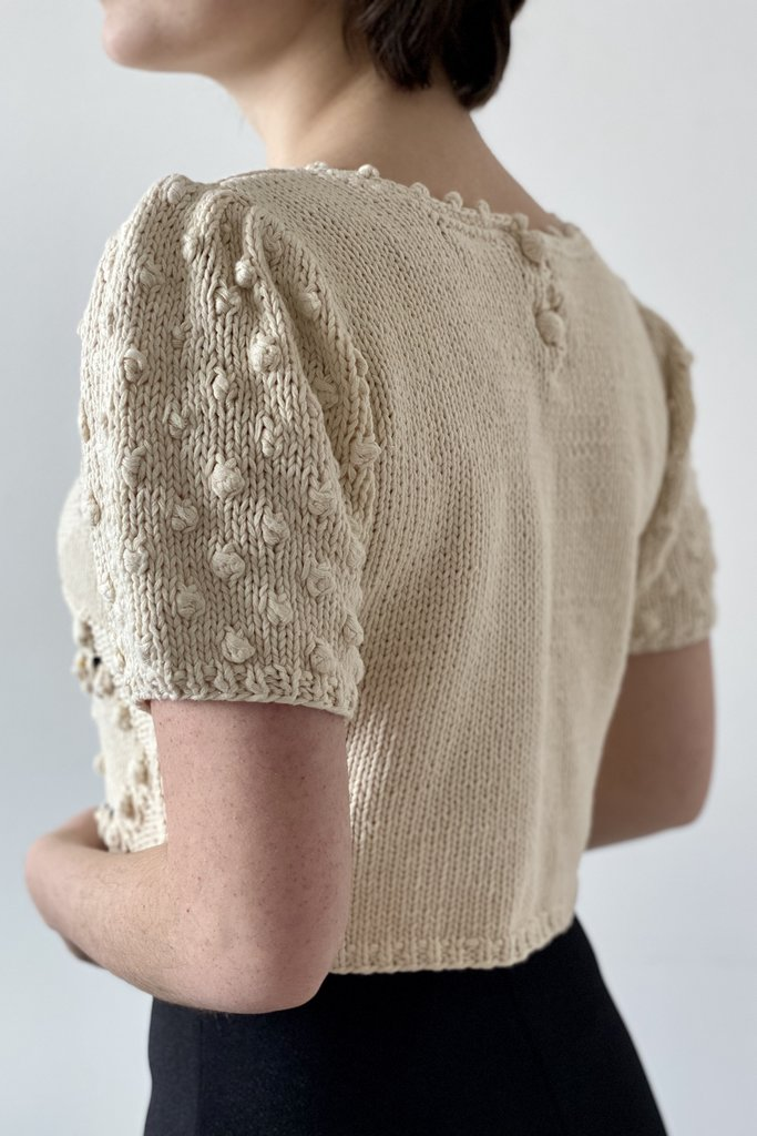 Handknit Popcorn Stitch Sweater