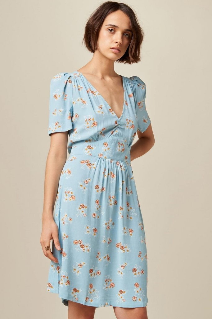 Sessun Short Sleeve Knee-Length Floral Dress - Multiple Colors