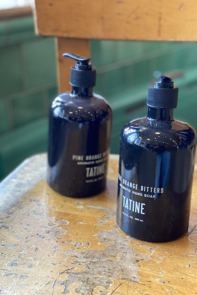 Tatine Pine Orange Bitters Liquid Hand Soap in Glass Bottle