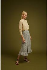 Soeur Soeur Long Flare Skirt with Flounces