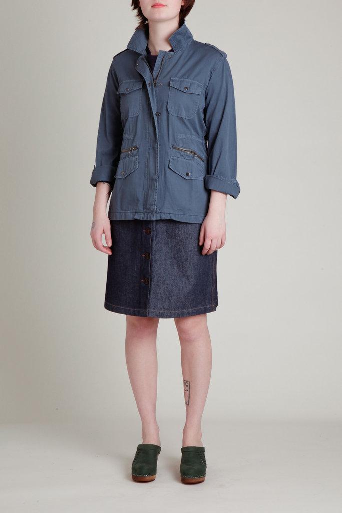 Velvet Velvet Faded Blue Safari Jacket