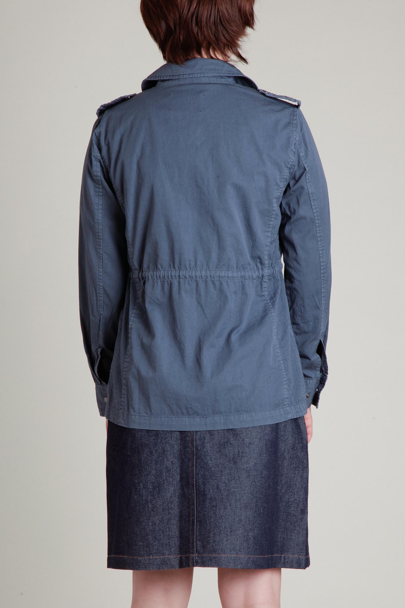 Velvet Faded Blue Safari Jacket