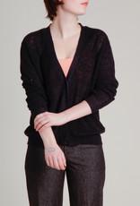 Demy Lee Josefina Linen Navy Cardigan