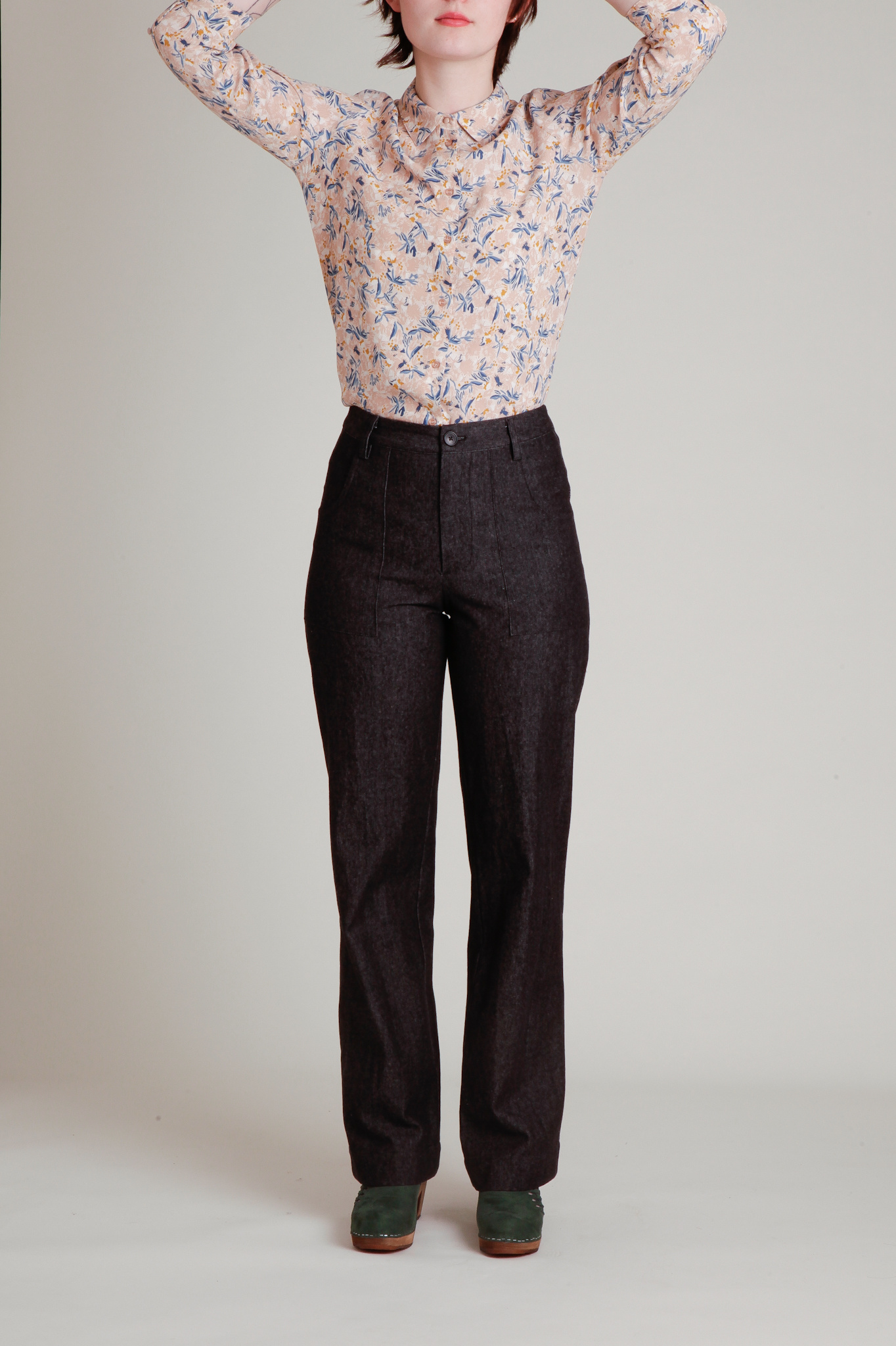 A. Cheng A. Cheng Dark Wash Patch Pocket Jeans