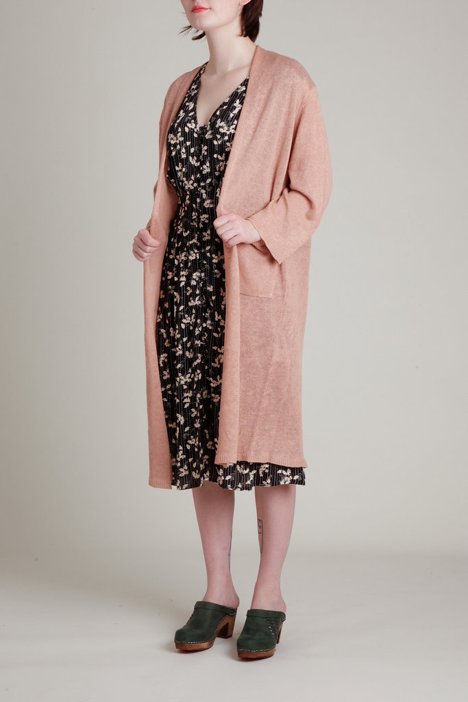 Demy Lee Long Linen Knit Cardigan