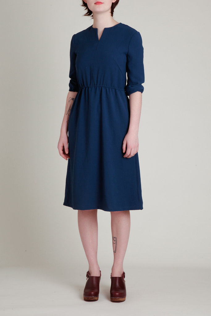 A. Cheng A. Cheng Split Neck Quarter Sleeve  Dress