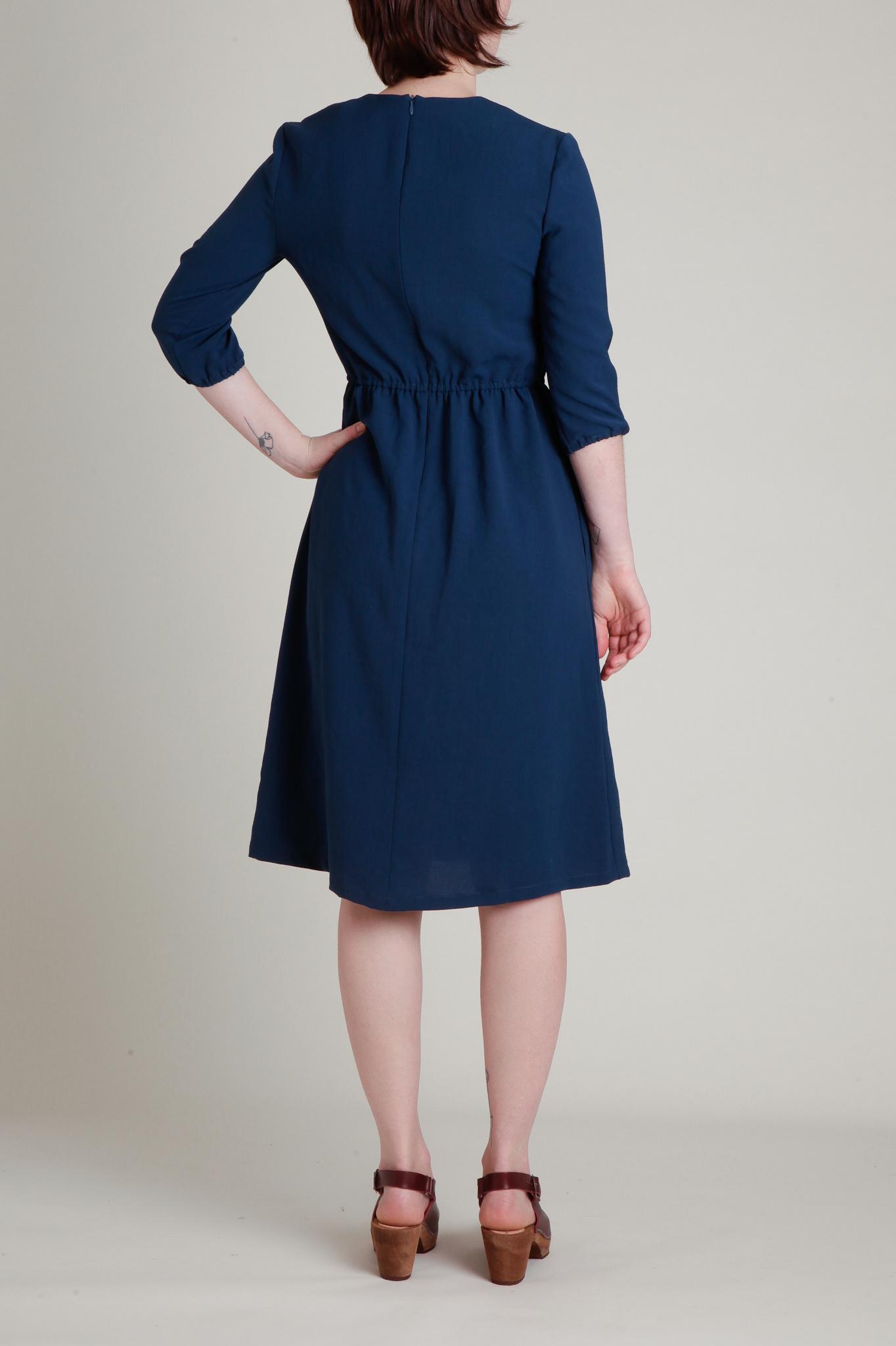 A. Cheng Split Neck Quarter Sleeve  Dress