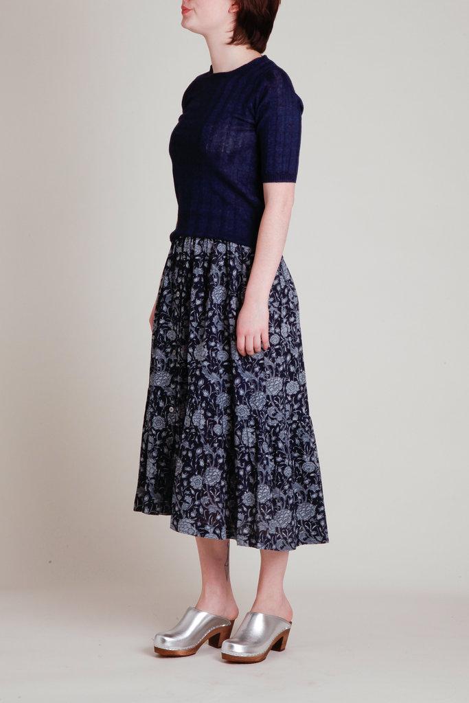 Soeur Floral Print Tiered Skirt