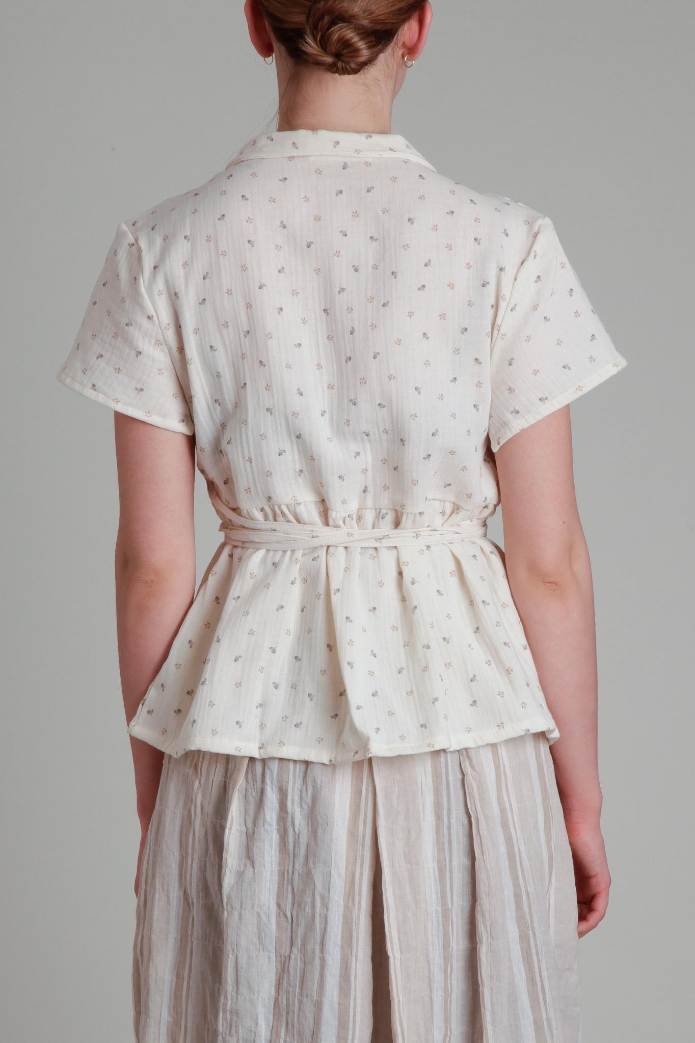 Moskiddos Moskiddos Cotton Floral Wrap Top