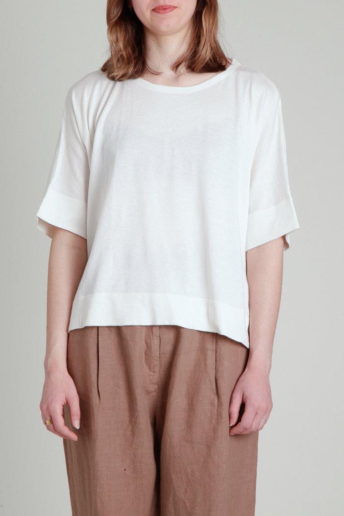 CT Plage Drapey Silk Cotton Pullover