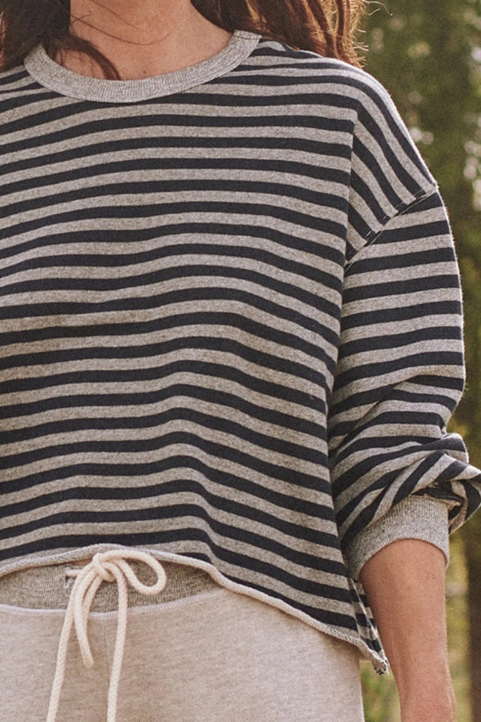 The Great The Cut Off sweatshirt Stripe