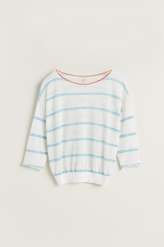 Bellerose Striped Linen-Blend Sweater