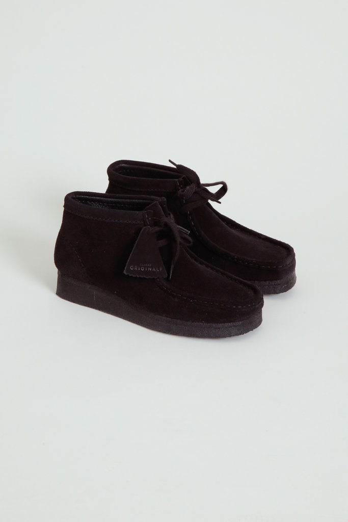 Clarks Suede Black Wallabee Boot