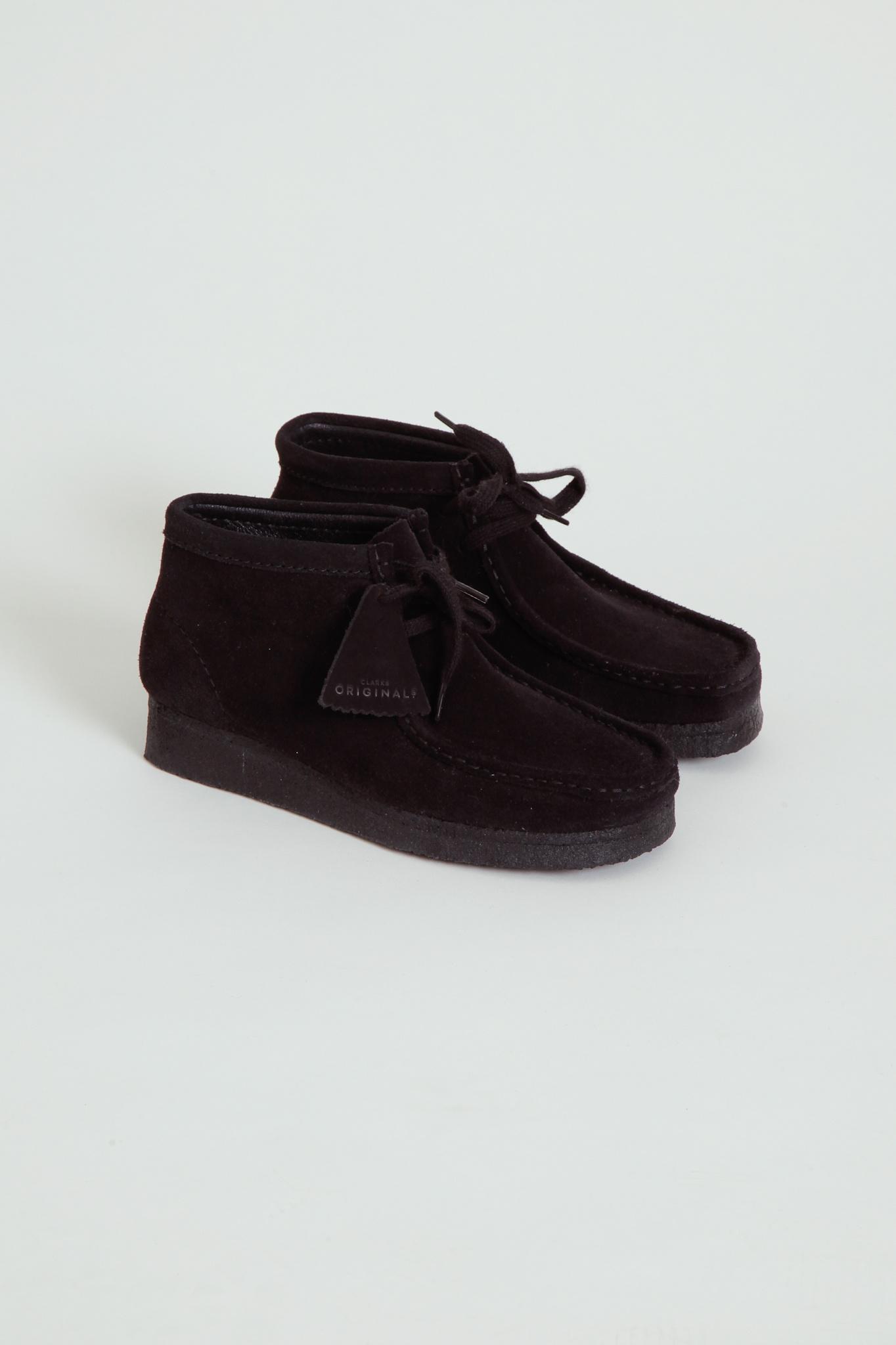 Clarks Clarks Suede Black Wallabee Boot