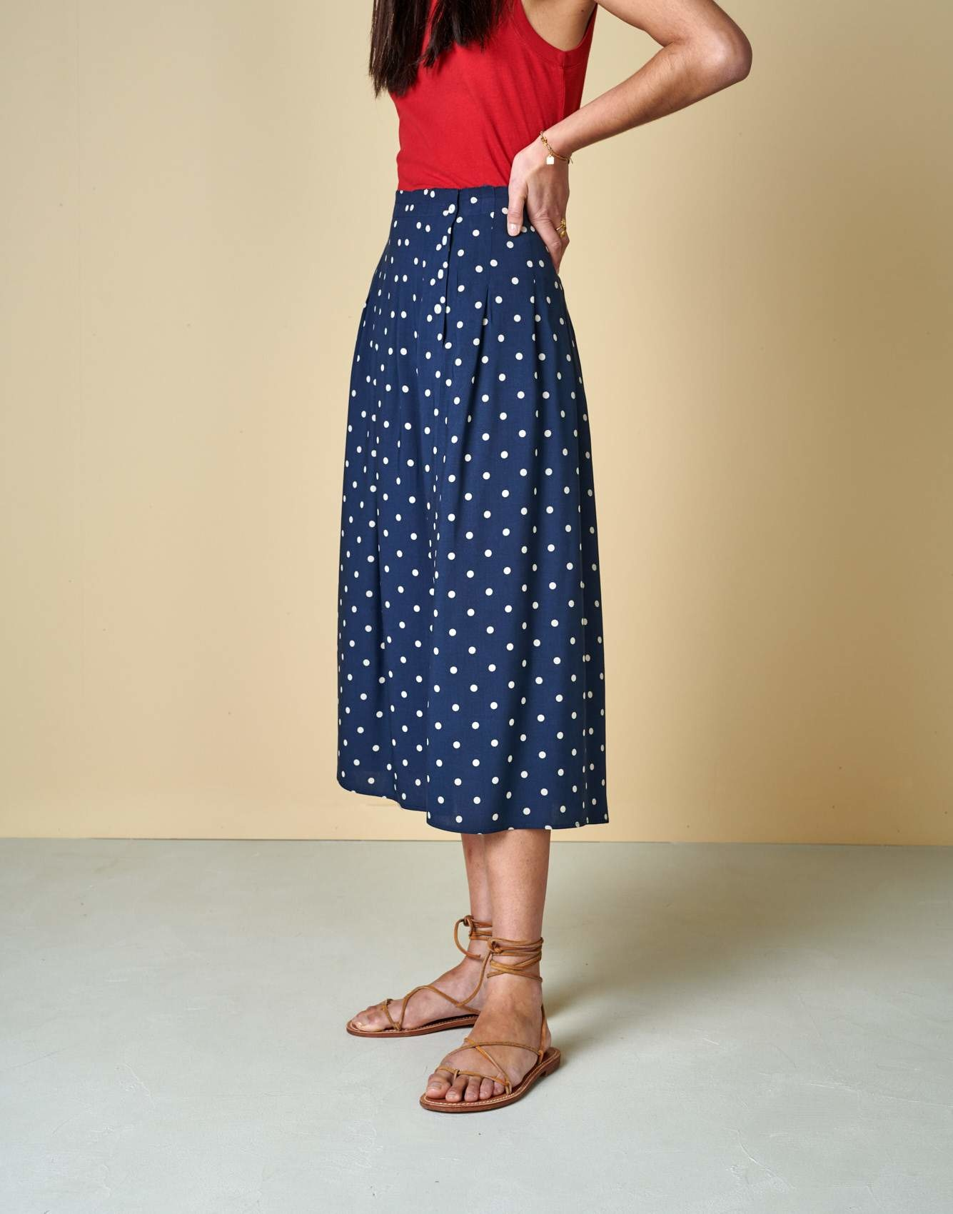 Bellerose Bellerose Polka Dot A-Line Skirt