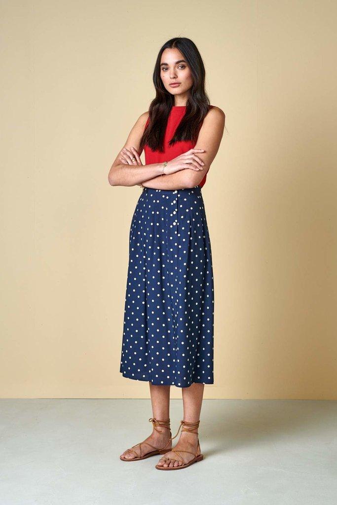 Bellerose Polka Dot A-Line Skirt