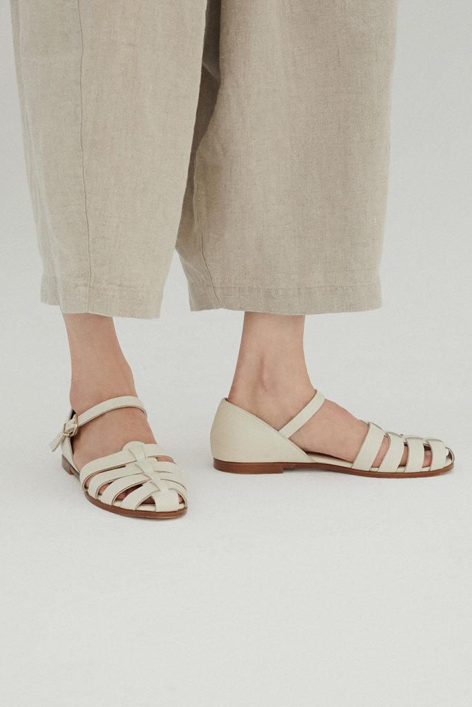 Monica Cordera Ivory Leather Sandals