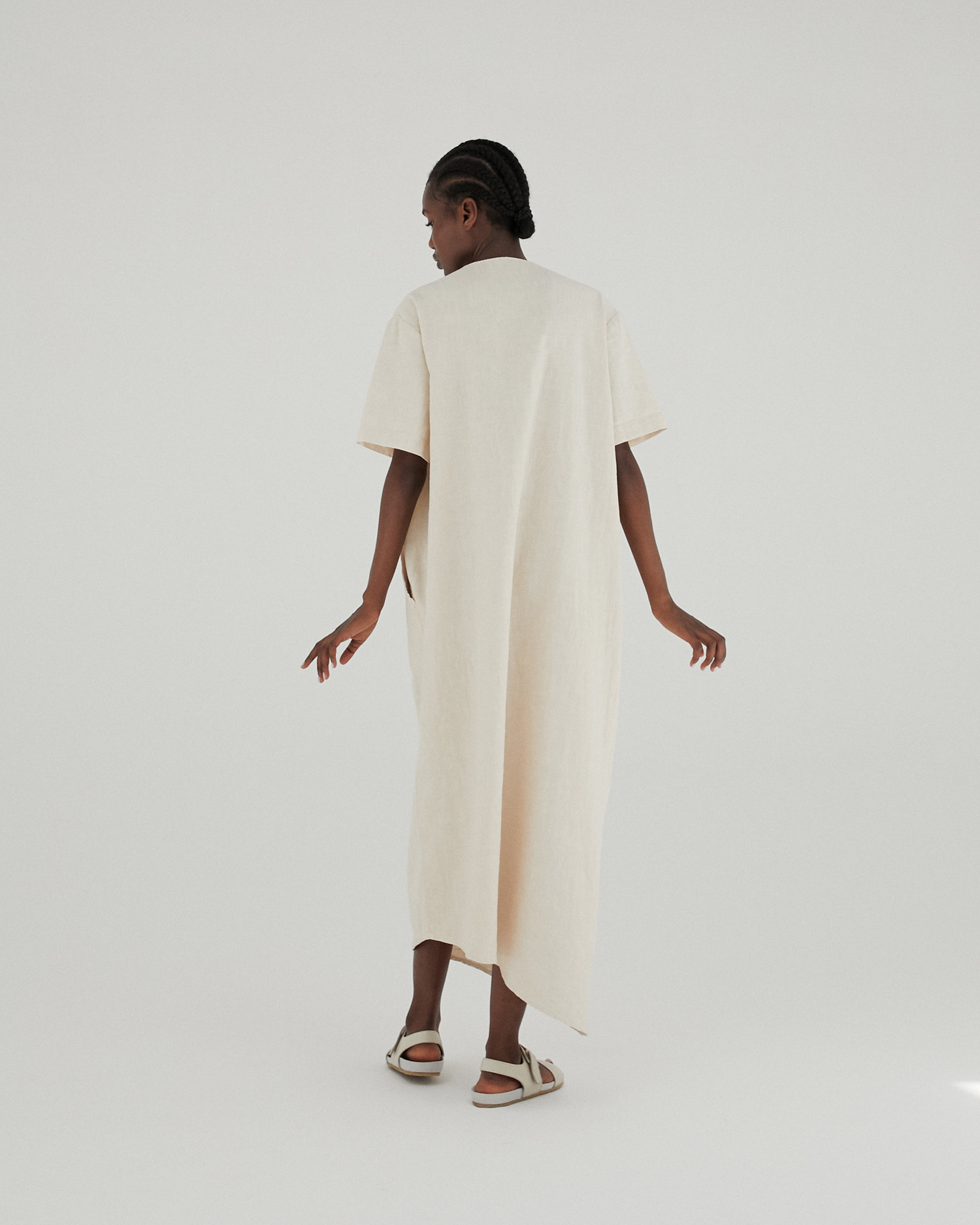Monica Cordera Monica Cordera Oversized Maxi Ramie Dress