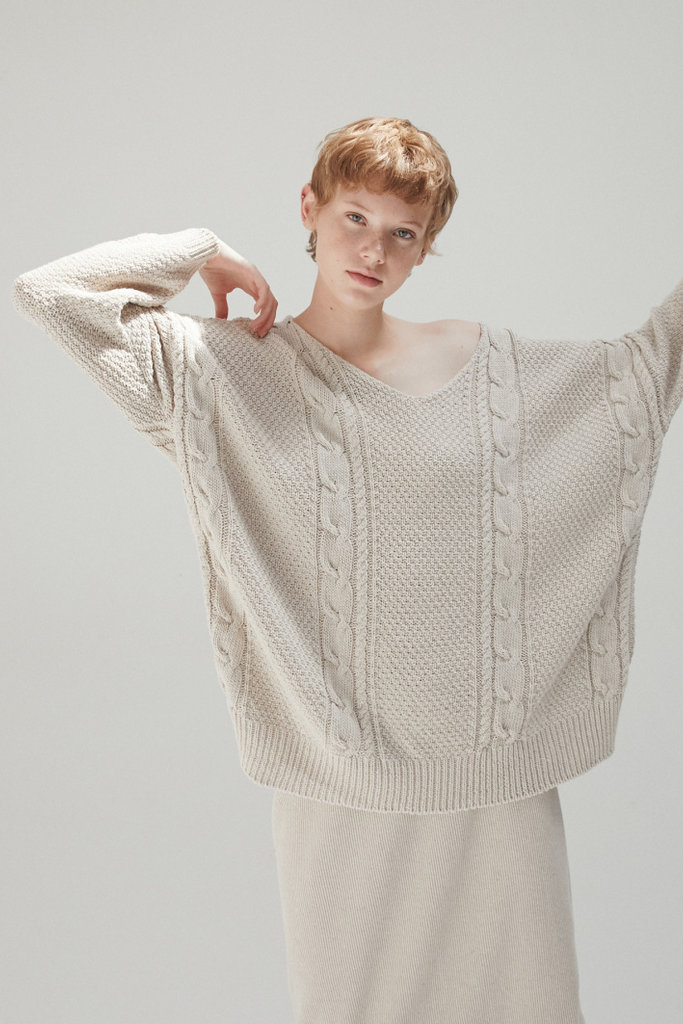 Monica Cordera Oversized Cable Knit Jumper