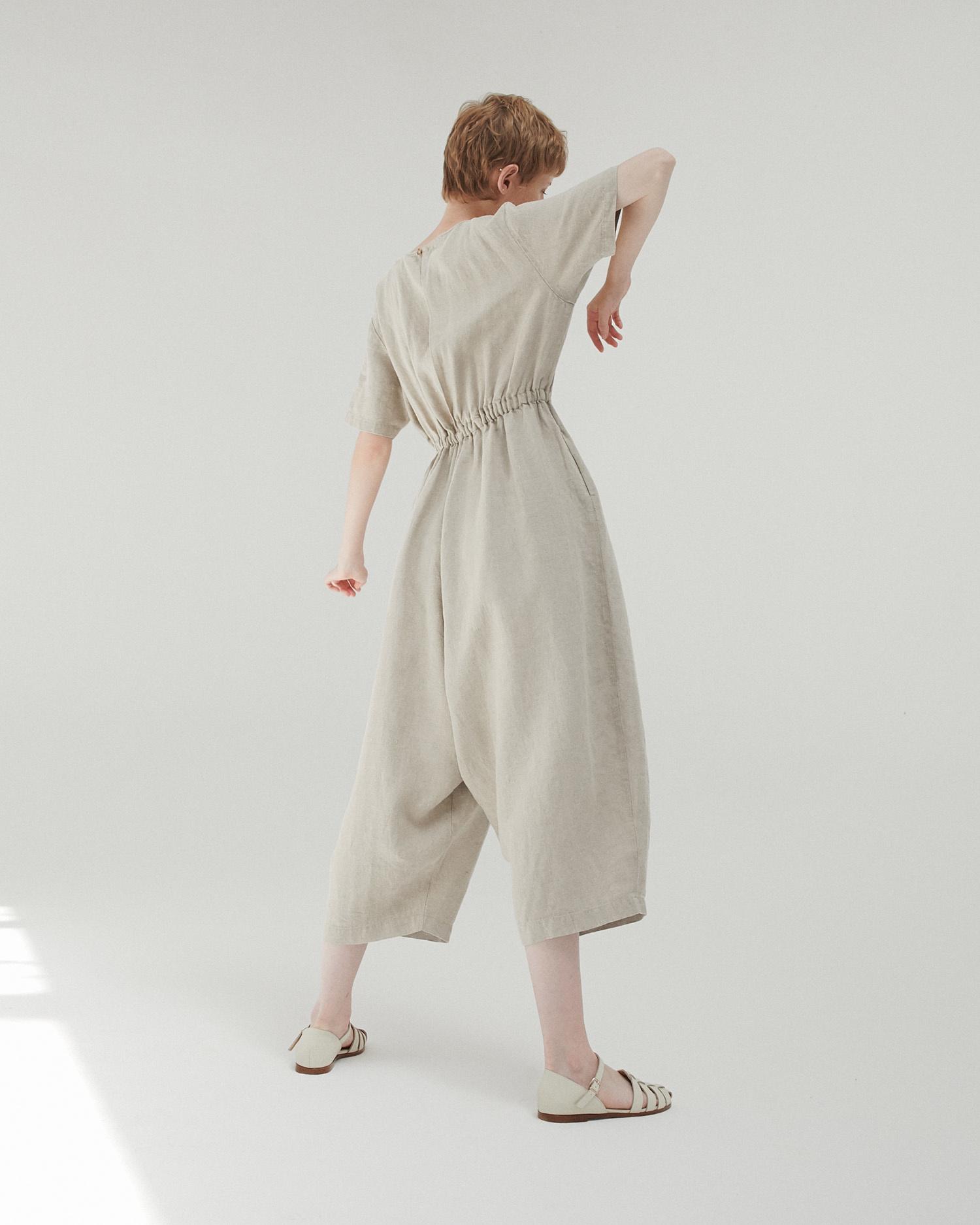 Monica Cordera Monica Cordera Oversized Drawstring Jumpsuit