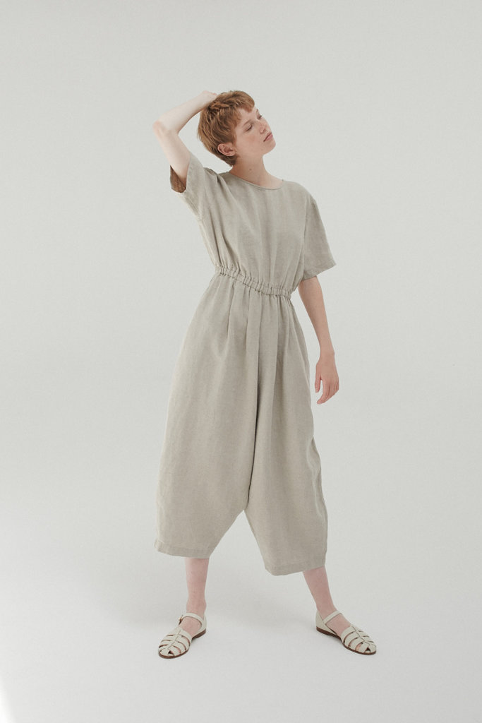 Monica Cordera Oversized Drawstring Jumpsuit
