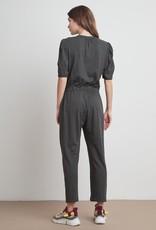 Velvet Lyra Slub Knit Solid Jumpsuit