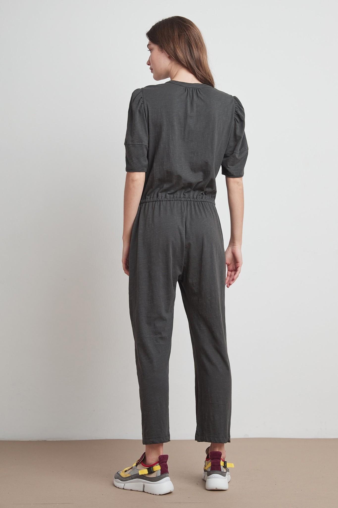 Velvet Velvet Lyra Slub Knit Solid Jumpsuit