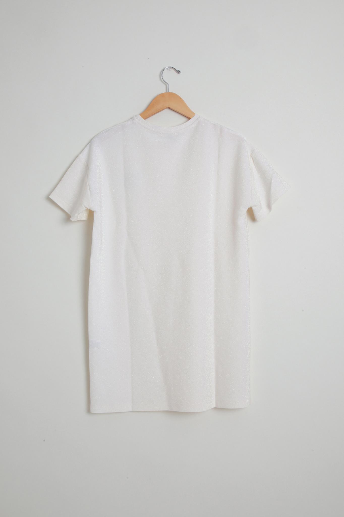 White Sparkle Knit  Dress