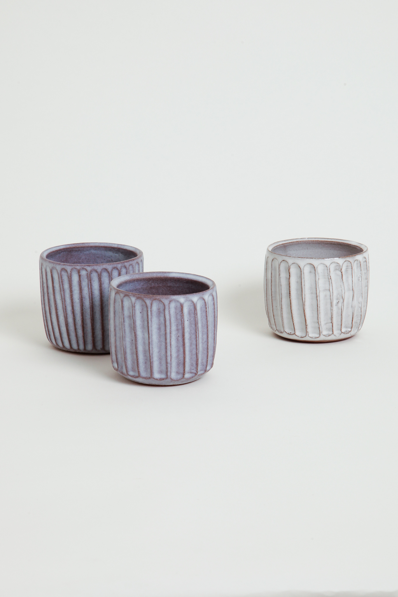 Alice Cheng Studio carved tumblers