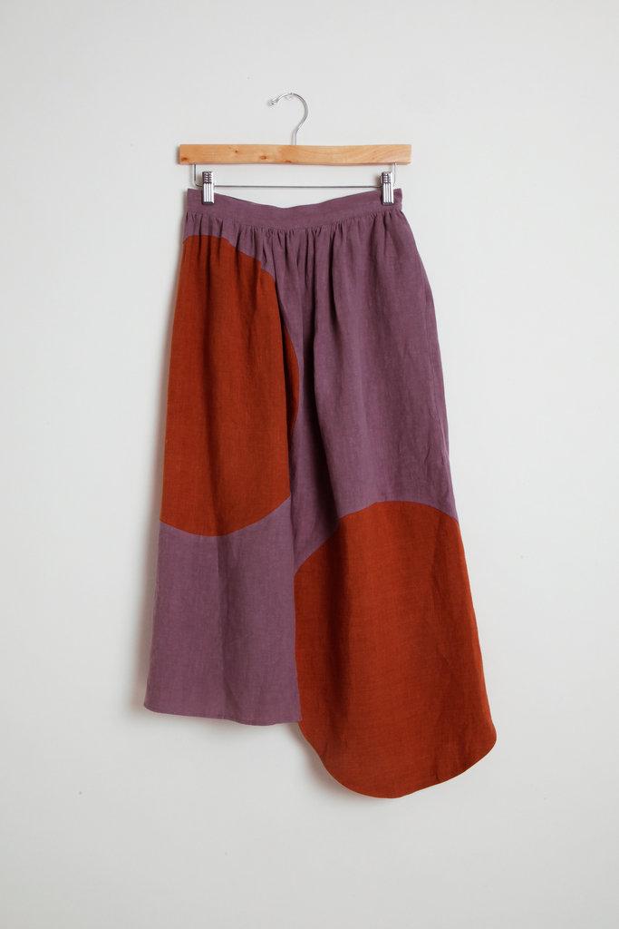 Correll Correll Linen Asymmetrical Skirt
