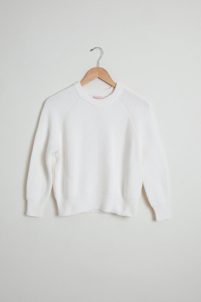Demy Lee Demy Lee White Cotton Crewneck Sweater