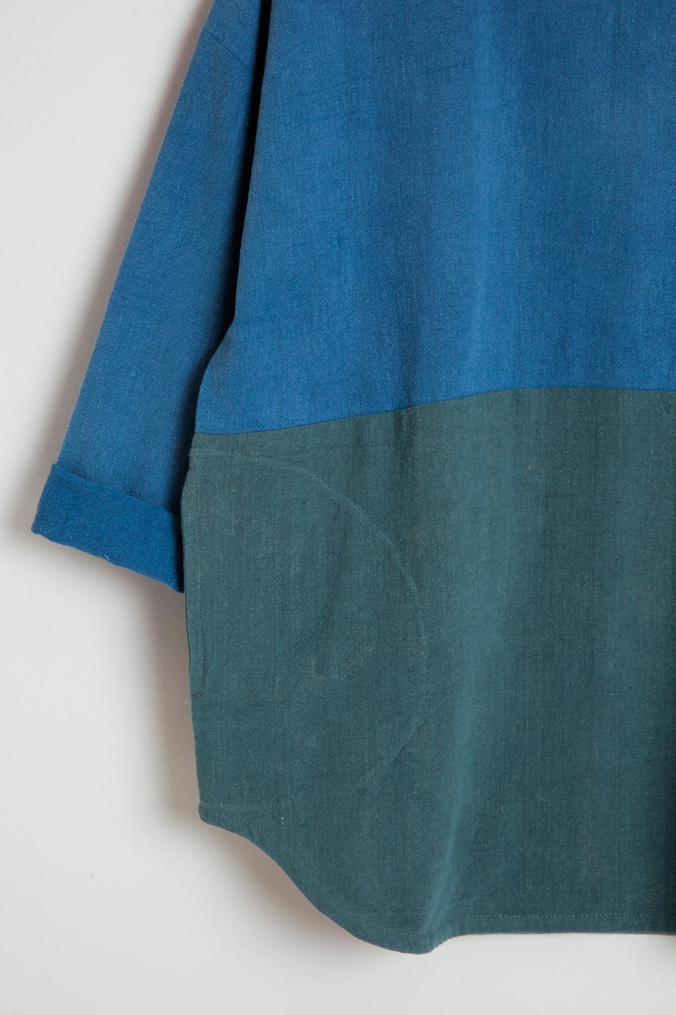 Colorblock Textured Cotton Top