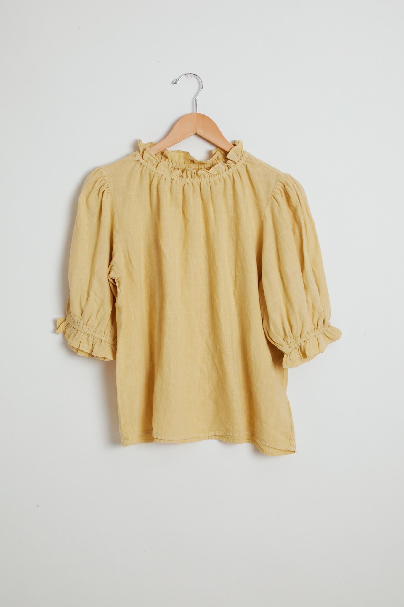 Velvet Velvet Vintage style blouse with ruffle detail