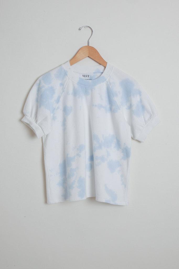 Velvet Tie Dye Short Sleeve Sweatshirt