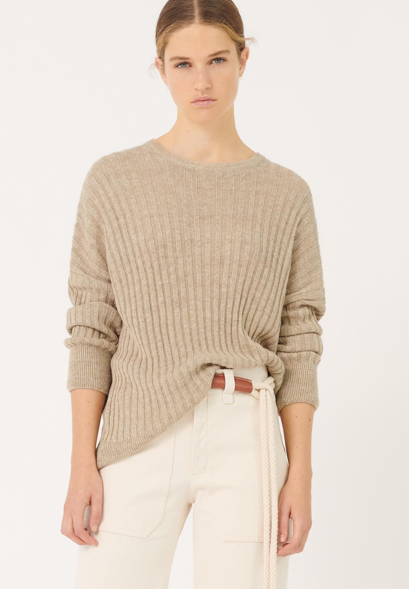 masscob Masscob Guanabara Linen Ribbed Loose Sweater