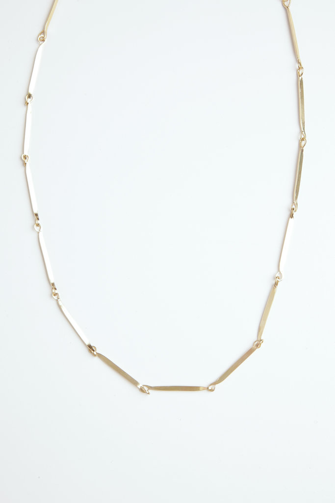 Satomi Studio Flat Link Necklace Brass