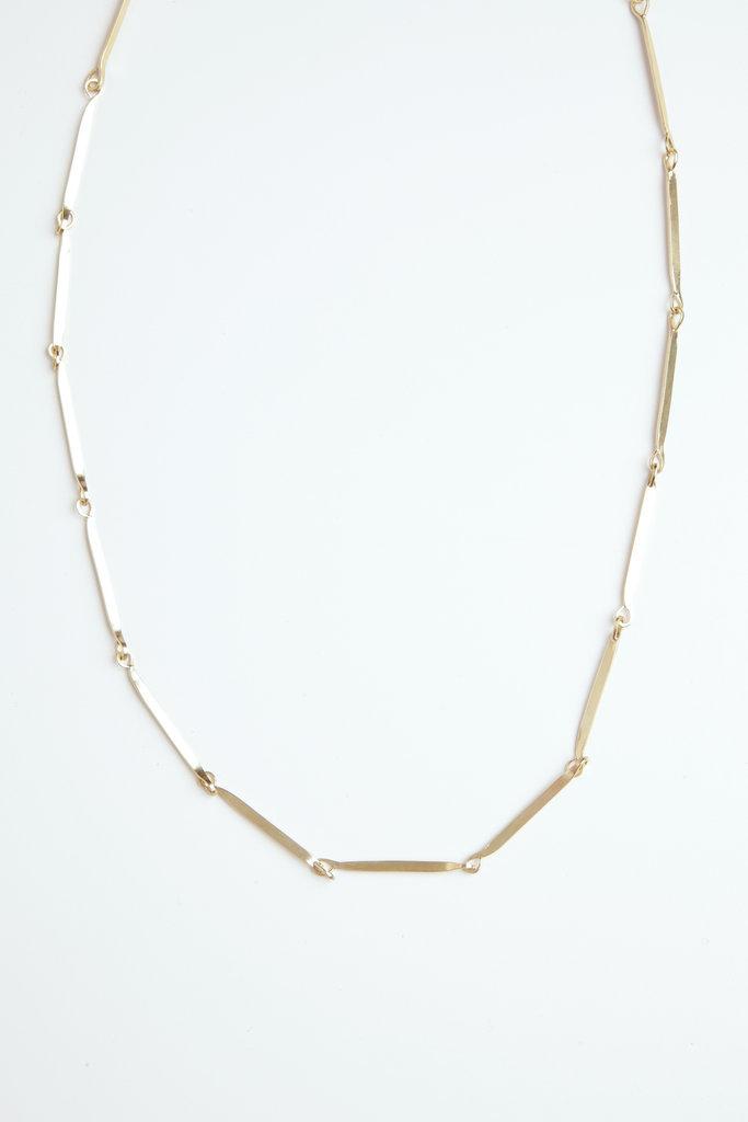 Satomi Studio Satomi Studio Flat Link Necklace Brass