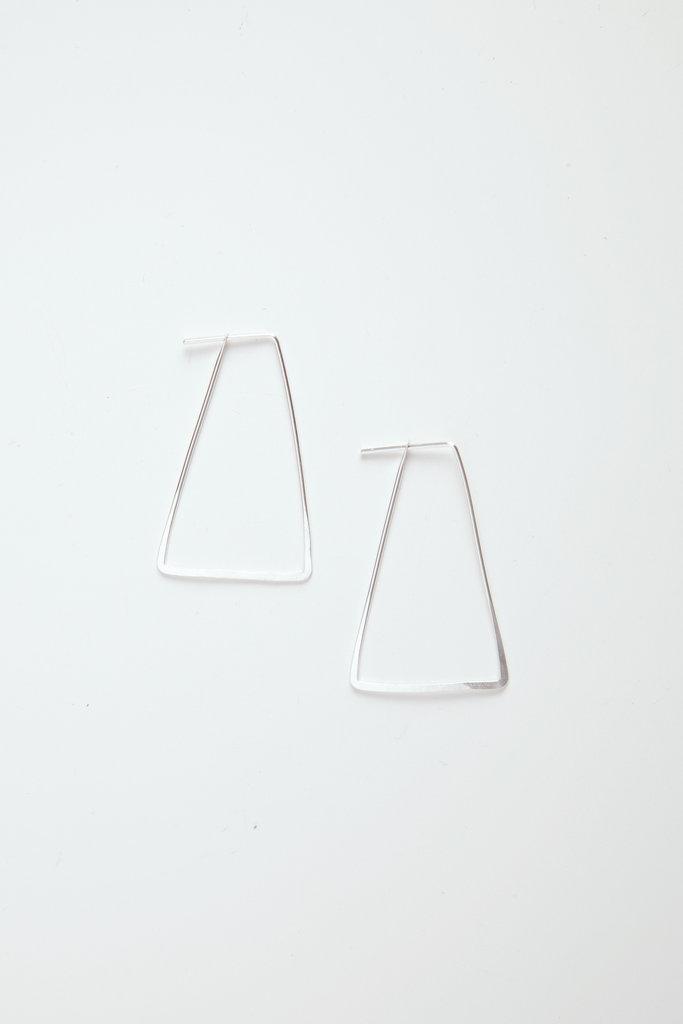 Satomi Studio Trapezoid Silver Hoops