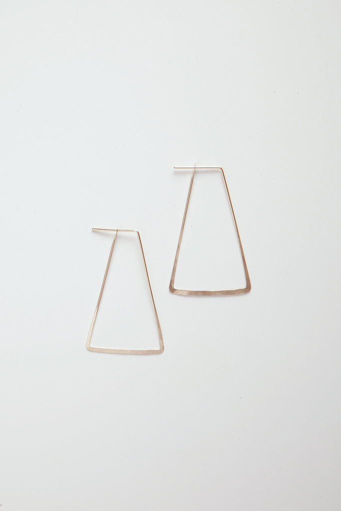 Satomi Studio Trapezoid Gold Filled Seam Hoops