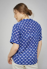 Mois Mont Electric Blue Tunic Top with Lips Print
